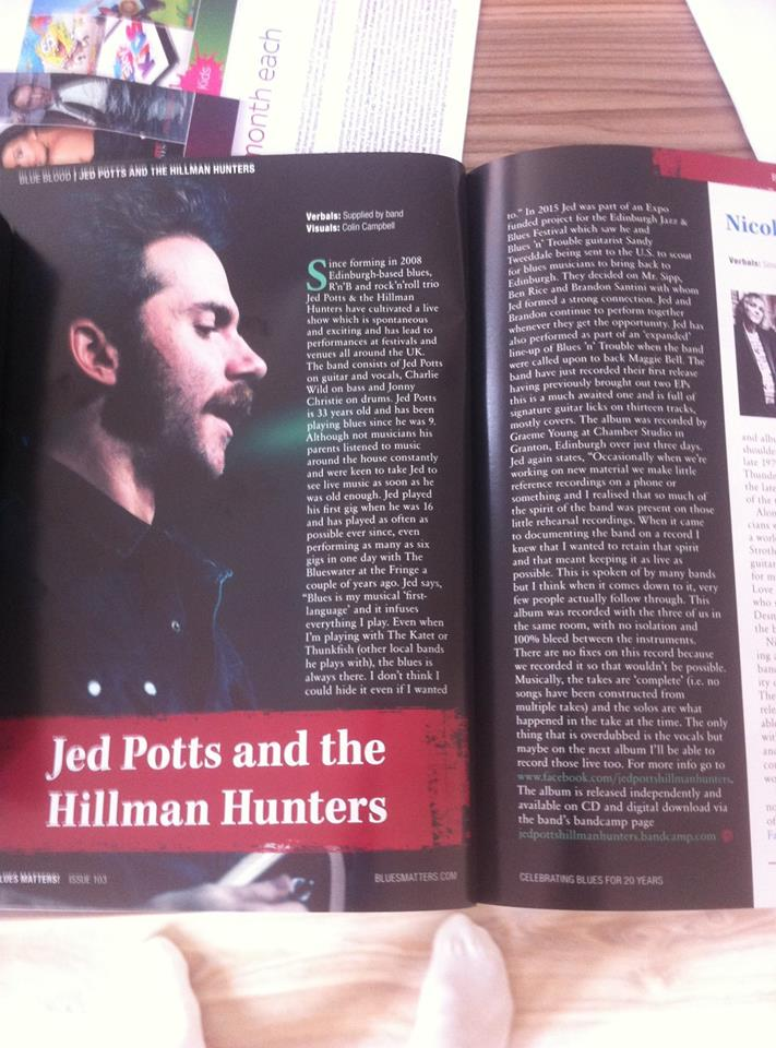 JED POTTS & THE HILLMAN HUNTERS, CAMEO